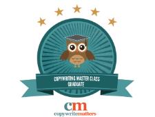 Copywrite Matters Copywriting Masterclass Graduate